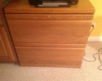 """Wood filing cabinet...measures 31"""" wide x 21"""" deep x 30"""" tall"""