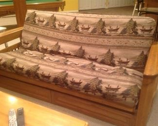 """Matching sofa and Loveseat with the Eddie Bauer cabin look. Measures 85 long x 40 deep x 36"""" tall.  Loveseat measures 65"""" long x 40"""" deep x 36"""" tall."""
