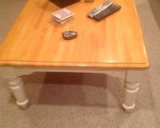 """Coffee table measures 50"""" long x 30"""" wide x 17"""" tall"""