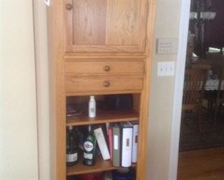 """Matching tower cabinet in oak.  Measures 24"""" wide x 20"""" deep x 78"""" tall.  Presale at $125"""