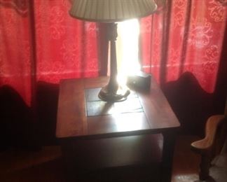 Side table that matches the coffeetable...slate insets