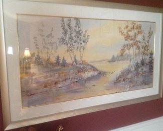"Beautiful pair of Asian prints..55 wide x 35"" tall. Presale $100"