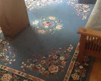 8 x 10 blue floral rug...$100