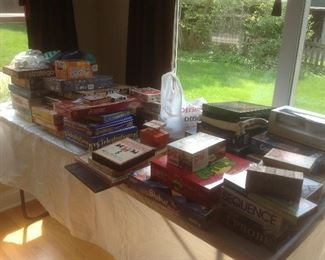 Tables full of old and new games