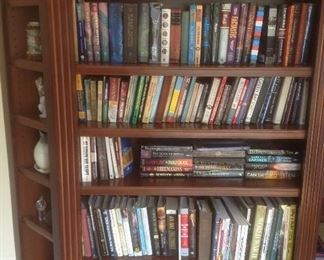 Variety of books and cookbooks