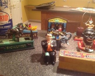 Collectible Metal banks and toys