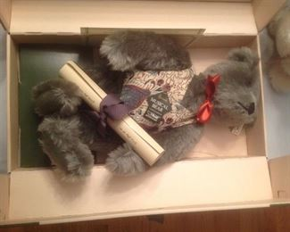 Steiff musical collectible bear...comes in original box with certificate.