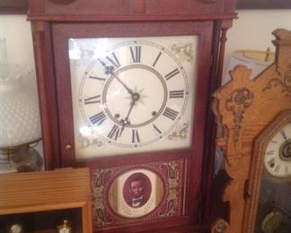 Handmade clock...presale $75.