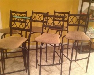 Set of six bar stools