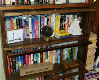 lawyer bookcases, lots of books