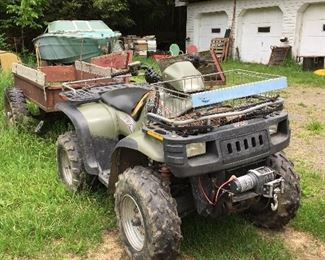 Polaris 4x4, automatic, winch, and plow