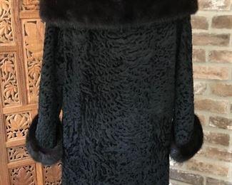 Vintage Persian lamb coat, size small