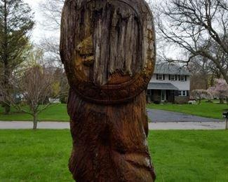 Large Viking poplar carving by Richard Kron.