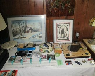 Household, artwork and in record player