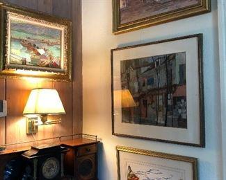 original art + petite secretary desk