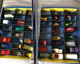 matchbox & tootsie toys in vintage Matchbox Series case