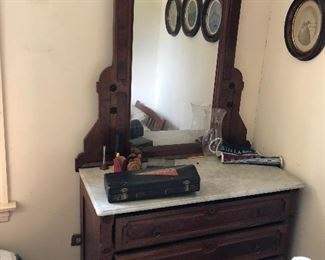 Eastlake / Victorian marble topped dresser