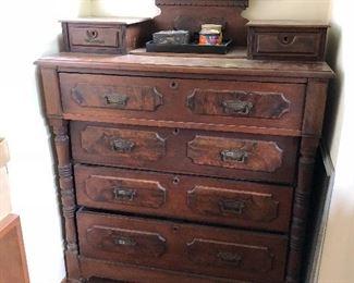Victorian glove dresser