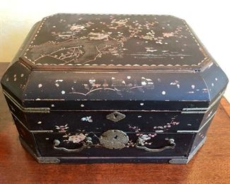Antique Mahjong Box (only)
