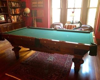 Antique Powers and Vail Pool Table - Amazing!