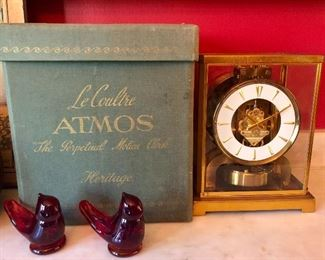 Le Coultre Atmos, Perpetual Motion Clock with original box, unusual size
