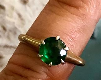 Emerald and 14K, Vintage