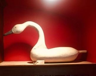 Frank Finney Carved Wood Swan