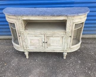 Small curved Louis XVI Style side board- circa 1880-1900's