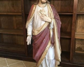 1820's Antique French Jesus Statue from church in South France