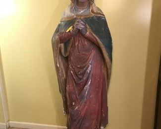 1880's Antique French Mary Statue from the South of France