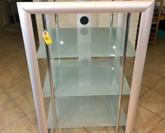 Metal & Tempered Glass shelving Unit
