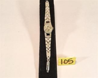 1950 Custom rhinestone watch bracelet, not running