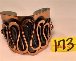 1940 Rebajes Copper cuff bracelet