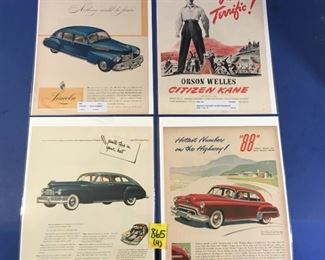 1930-1950's Magazine Advertisements; Pontiac, Lingerie, Shin 'n Shore blouses, White Rock Water (4)