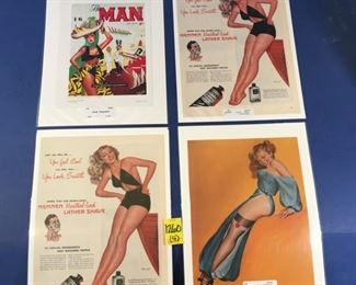 Vintage Pinup illustrations (4)