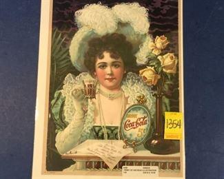 Coca-Cola ad, Victorian print
