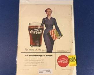 1940s -1950s Coca-Cola ad; People on the go
