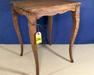 Vintage Oak side table with Queen Anne legs