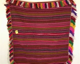 60 Year old hand woven sarape from Peru