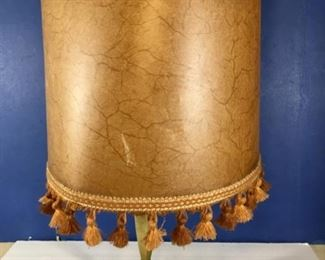French Brass accent lamp with shade, 220V