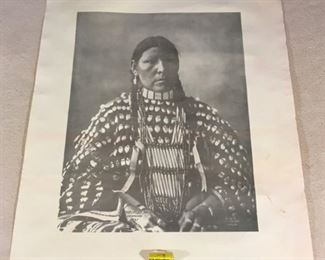 Reprinted photograph of Native American, Freckled Face Arapaho No. 67
