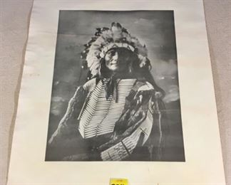 Reprinted photograph of American Indian; Chief Goes to War Sioux No. 1419