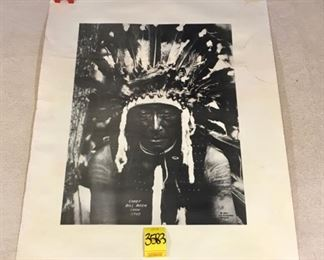Reprinted photograph of Native American; Chief Bill Rock Crow tribe No. 68