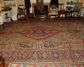 Beautiful antique Serapi carpet, Circa 1890-1900