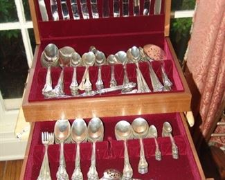 Two sets of Sterling Silver flatware, Chantilly  by Gorham, 1895, over 340 pieces