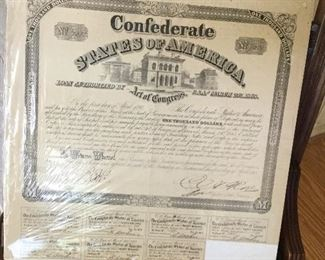 Confederate States of America Loan Authorization