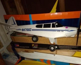 A large selection of model planes and kit planes.