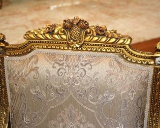 French Parlor Sets – Gold Leaf Frames + 5 Piece