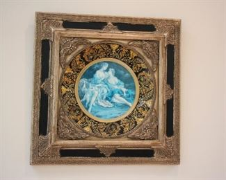 Framed Porcelain Art