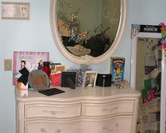 Dresser and Oval Mirror